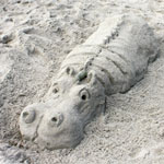 Hippo Sand Sculpture (Harste Family)