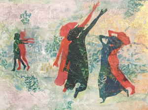 """Celebrating Equality 15""""x 20"""""""" Acrylic Collage Now in the collection of Karen Wood, NC"""