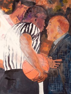 """March Madness 13 1/2"""" x 16"""" Gouache"""