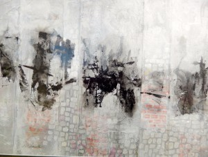 "Jericho 14""x18"" Framed Acrylic Collage"