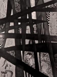 """Interwoven Lives 21""""x26"""" Acrylic & Gouache"""