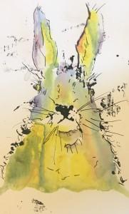 Watchful Bunny. Acrylic & Watercolor Owner: Kathy Egawa, OR