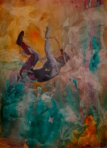 "The Big Kahuna 22""x28"" Acrylic Collage"