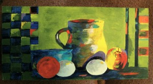 """Mixed Water Media on Wooden Box (8""""x12"""")"""