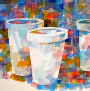 """Watercolor (8""""x8"""")."""