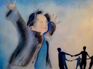 "Watercolor (12""x16""). Original:  Monica Engebretson (Fayetteville, Arkansas)"