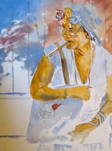 "Watercolor (12""x16"") Original - Brian Jones (Toronto)"
