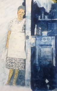 """""""A Steadying Force"""" Theodore M. Englehart Memorial Award   Watercolor Society of Indiana 2020 Juried Show Owner: Kennth Harste"""