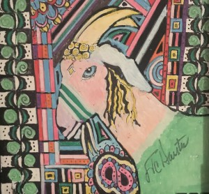 """The Queen 8""""x 8"""" Posca Pens Now part of the Collection of Cynthia Lewis (CA)"""